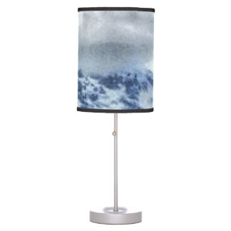 Ice capped mountains table lamp