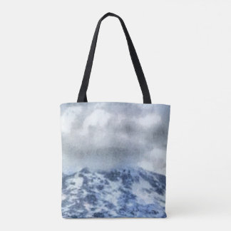 Ice capped mountains tote bag