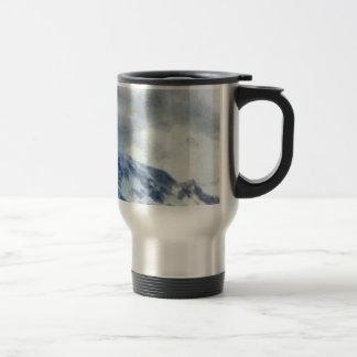 Ice capped mountains travel mug