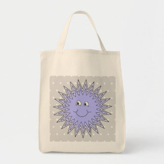 Ice Character with a Smile. Blue and Gray. Tote Bag