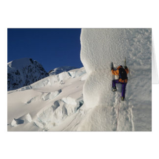 Ice climbing on the Tasman Glacier below Mount Card