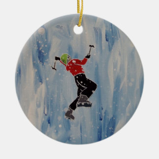 Ice climbing ornament