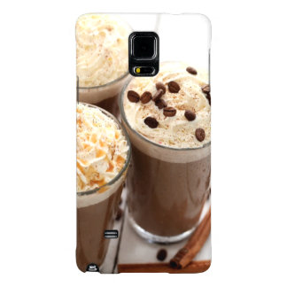 Ice coffee with whipped cream and coffee beans galaxy note 4 case