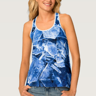 Ice cold cool blue tank top