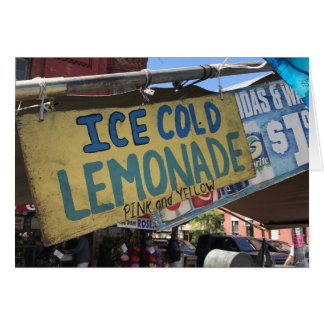 Ice Cold Lemonade, Street Fair Upper West Side NYC Card