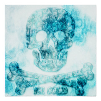 Ice Cold Skull & Crossbones Poster