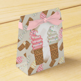 ICE CONES CREAMTent with Ribbon Favor PINK Favor Box