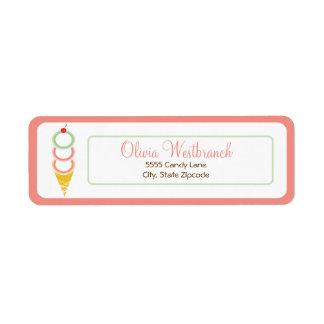 Ice Cream Address Label