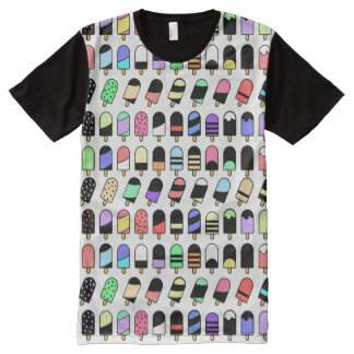 Ice Cream All Over – Colorful Repeating Pattern All-Over-Print T-Shirt