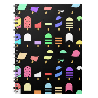 Ice Cream All Over – Colorful Repeating Pattern Notebooks