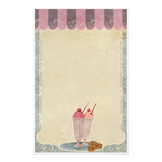 Ice Cream And Cookies Stationery
