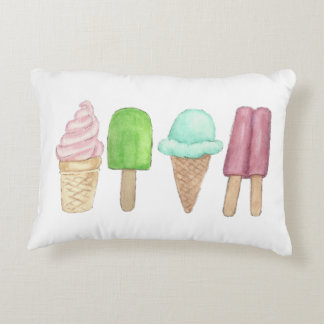 Ice Cream and Popsicle Pillow 16 x 12