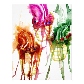 Ice Cream Art 2 Letterhead