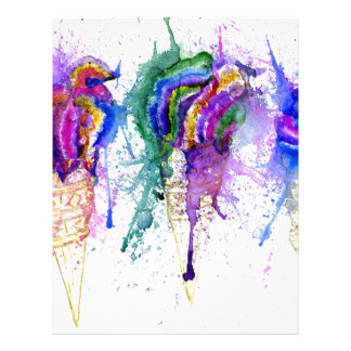 Ice Cream Art 3 Letterhead