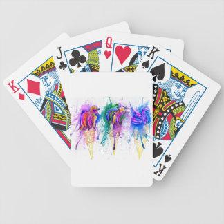 Ice Cream Art 3 Poker Deck