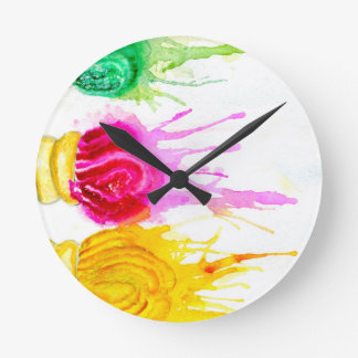Ice Cream Art Round Clock