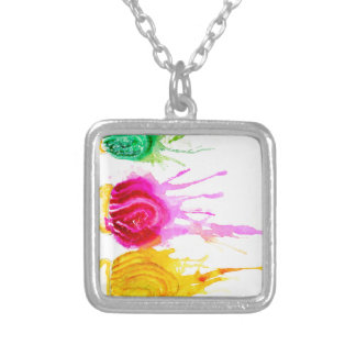Ice Cream Art Silver Plated Necklace