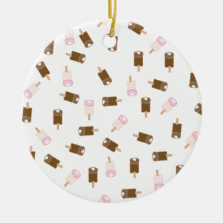 Ice Cream Bars Round Ceramic Ornament