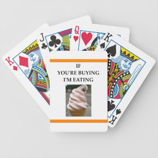 ice cream bicycle playing cards