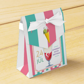 Ice Cream Birthday Party personalized Favor Box