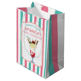 Ice Cream Birthday Party personalized Medium Gift Bag