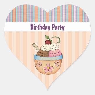 Ice Cream Birthday Party Stickers
