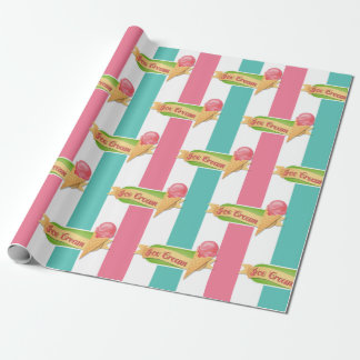 Ice Cream Birthday Party Wrapping Paper