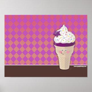 ice cream blueberry poster