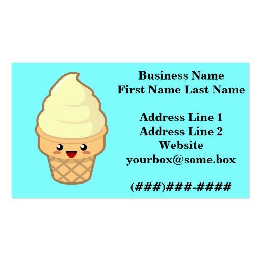 Ice Cream Business Card