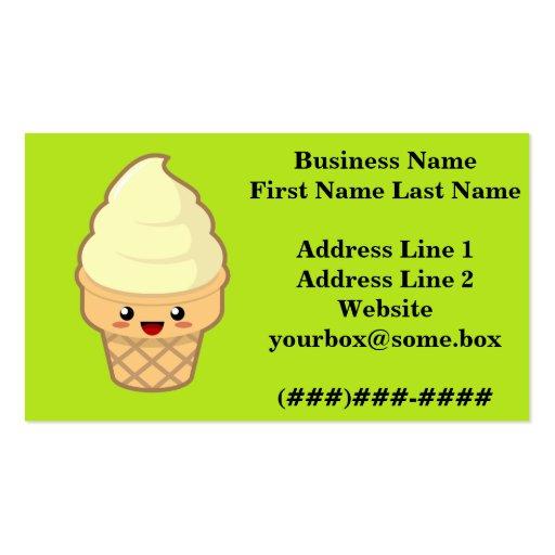 Ice Cream Business Cards