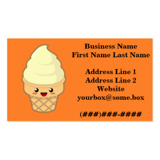 Ice Cream Business Card Template