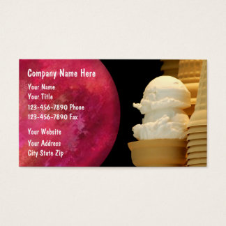 Ice Cream Business Cards