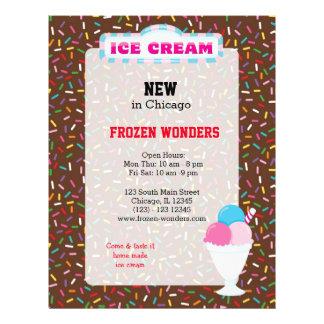 Ice cream business flyers