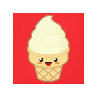 Ice Cream Stretched Canvas Print