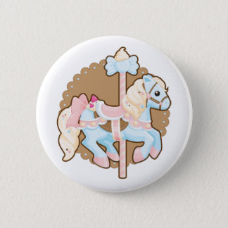 Ice Cream Carousel 2 Inch Round Button