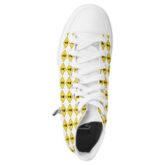 Ice Cream Caution Sign High Top Sneaker