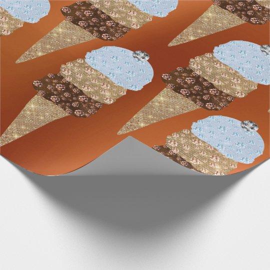 Ice Cream Chocolate Blue Coral Metallic Creamy