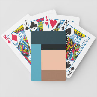 Ice Cream Color Block Bicycle Playing Cards