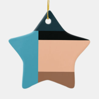 Ice Cream Color Block Ceramic Ornament