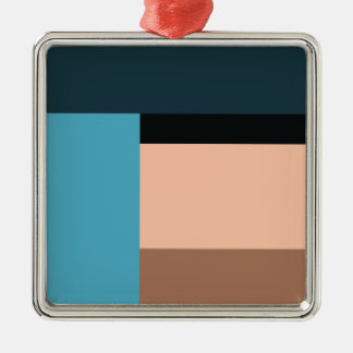 Ice Cream Color Block Metal Ornament