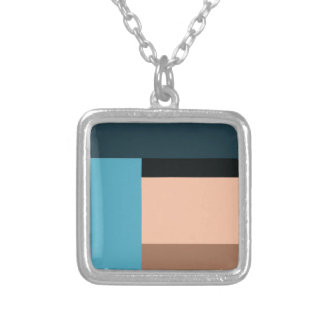 Ice Cream Color Block Silver Plated Necklace