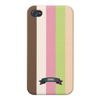 Ice Cream Color Stripe Pattern iPhone 4 Case