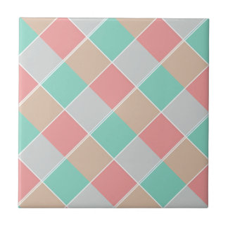 Ice-Cream Colors Checked Ceramic Tiles