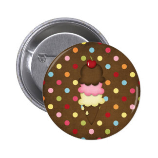 ice cream cone 2 inch round button
