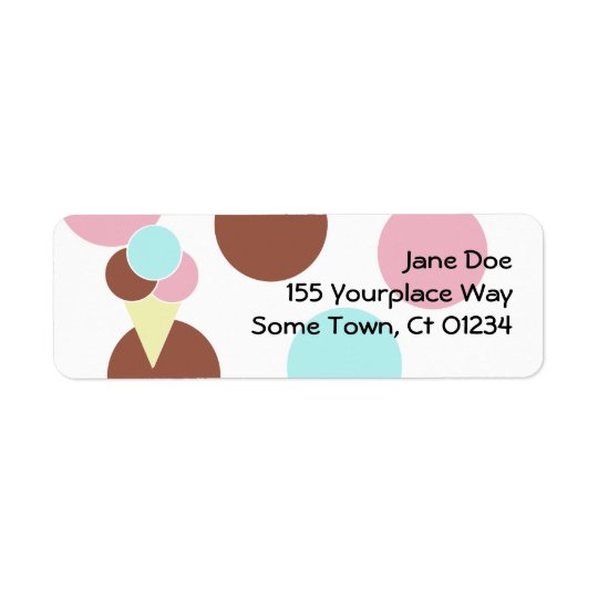 Ice Cream Cone Address Label