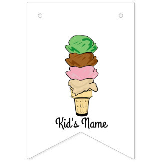Ice Cream Cone Bunting Flags