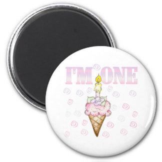 Ice Cream Cone Cake I'm One Magnet