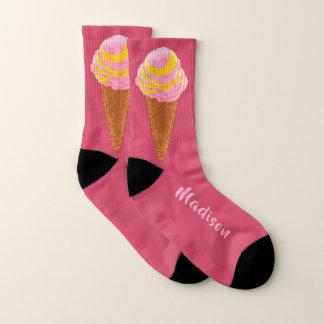 Ice Cream Cone custom name socks