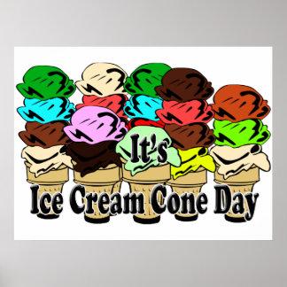 Ice Cream Cone Day Poster