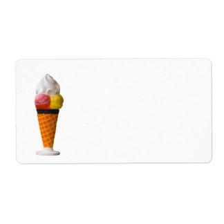 ice cream cone fun label shipping label